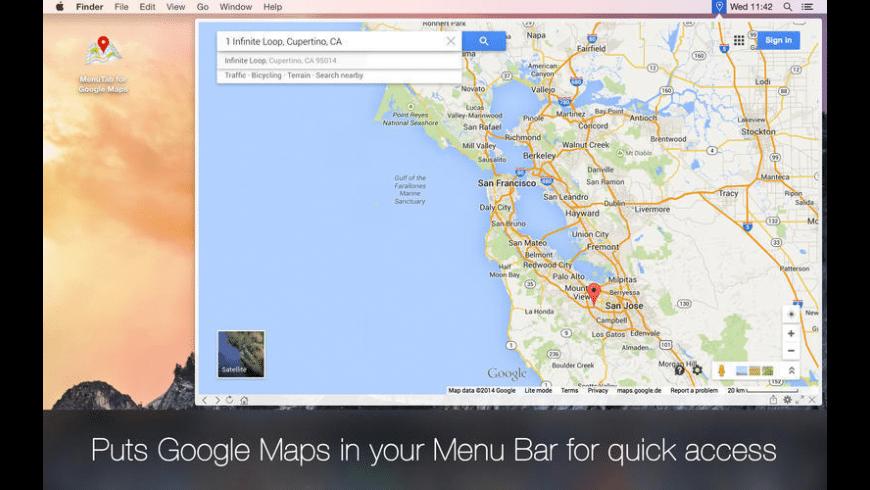 MenuTab for Google Maps for Mac - review, screenshots