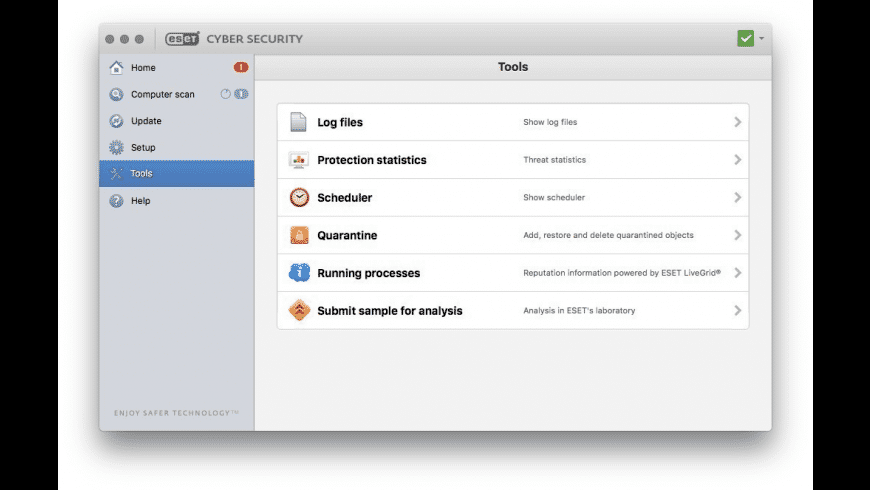 ESET Cyber Security for Mac - review, screenshots