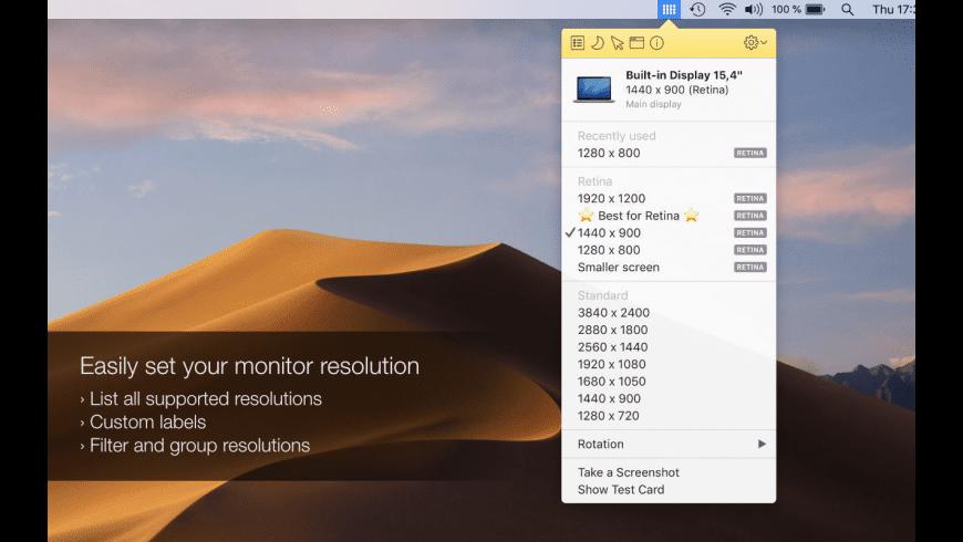 Displays for Mac - review, screenshots