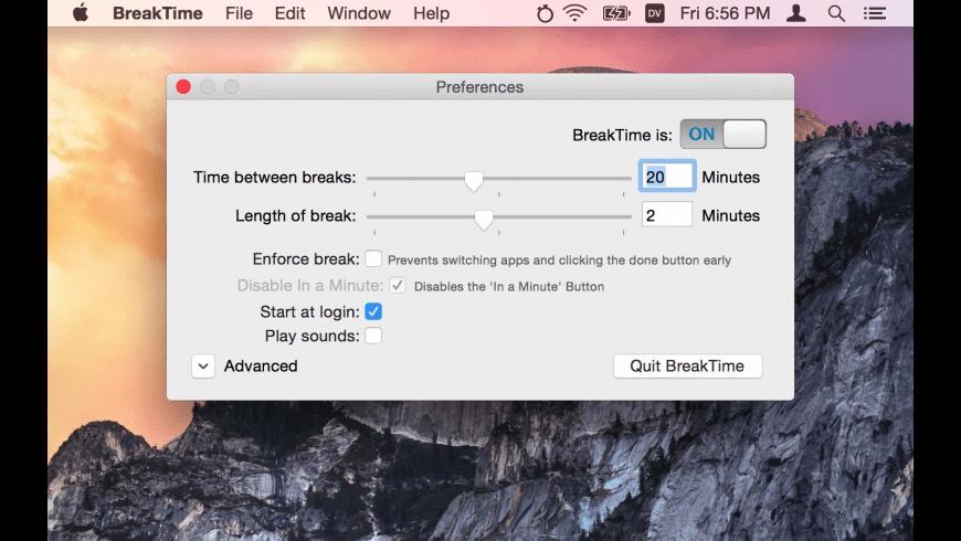 BreakTime for Mac - review, screenshots