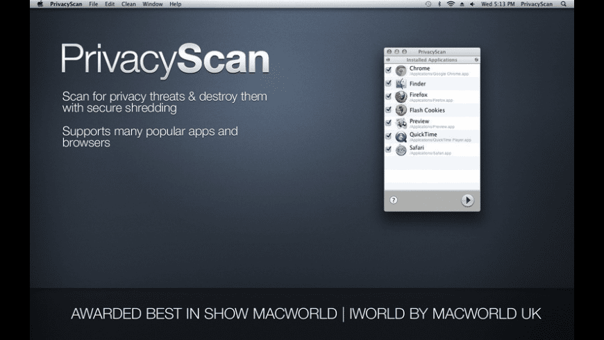 PrivacyScan for Mac - review, screenshots