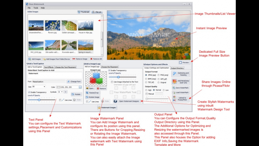 Mass Watermark for Mac - review, screenshots