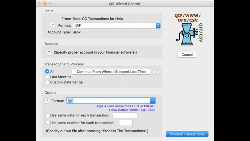 QIF Wizard for Mac - review, screenshots