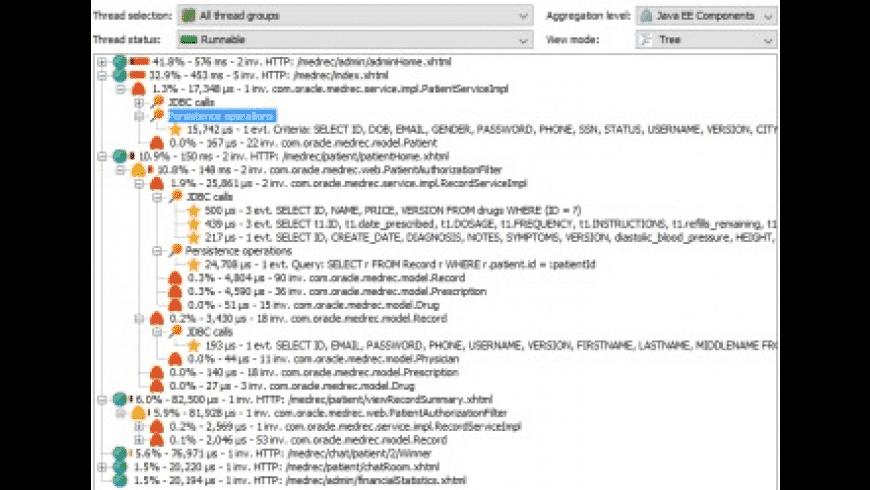 JProfiler for Mac - review, screenshots