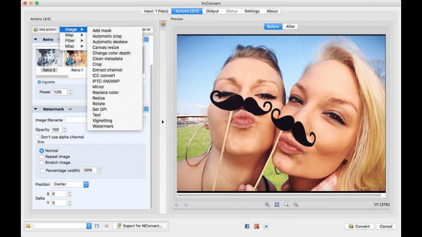 XnConvert for Mac - review, screenshots