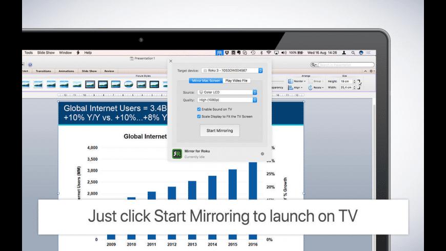 Mirror for Roku for Mac - review, screenshots