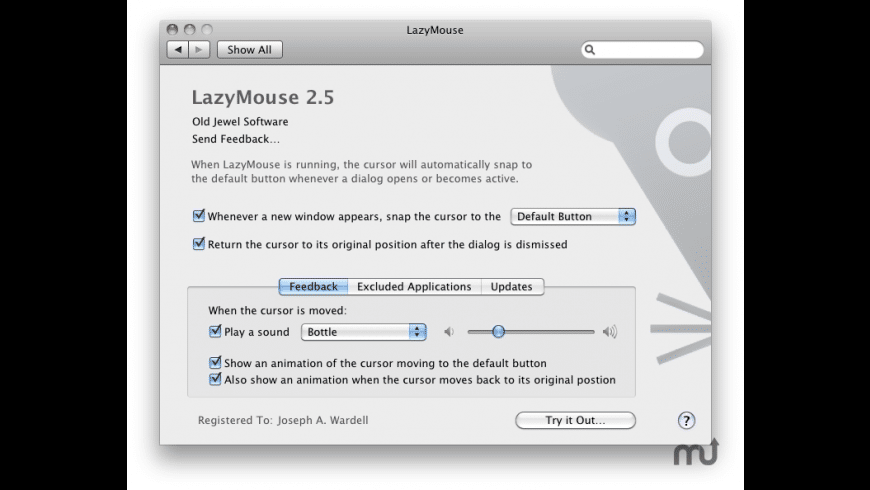 LazyMouse for Mac - review, screenshots