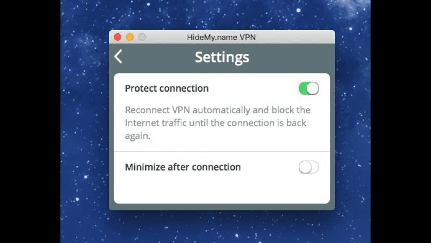 HideMy.name VPN for Mac - review, screenshots