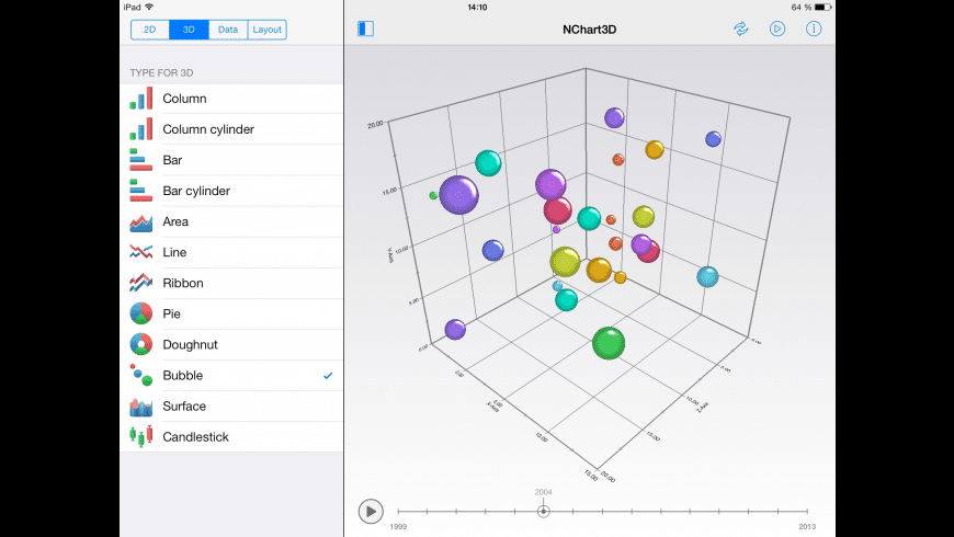 NChart3D for Mac - review, screenshots