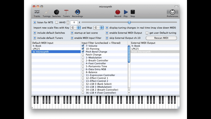 microsynth for Mac - review, screenshots