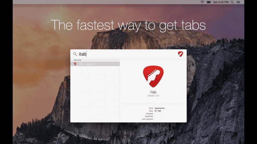 iTab for Mac - review, screenshots