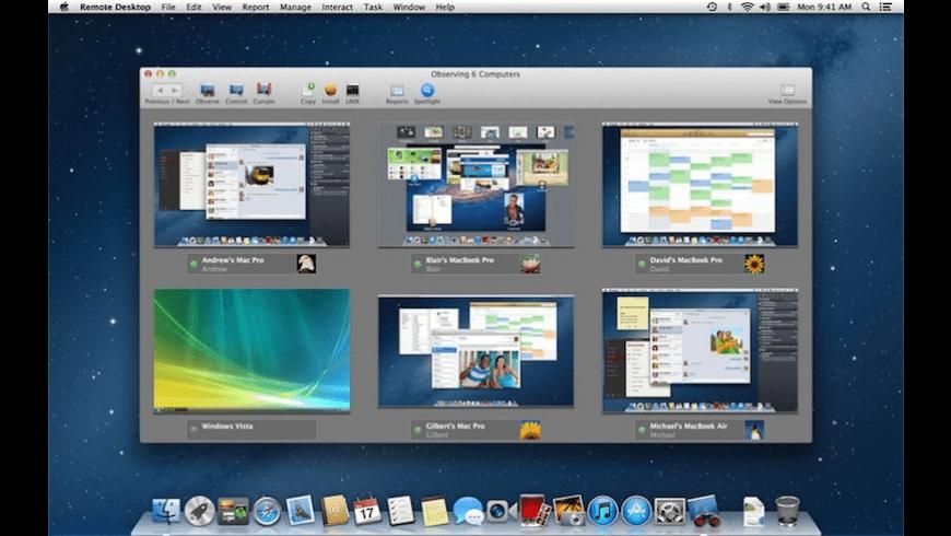 Apple Remote Desktop Widget for Mac - review, screenshots