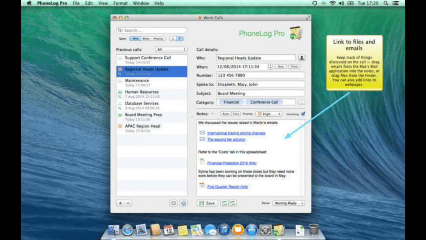 PhoneLog Pro for Mac - review, screenshots