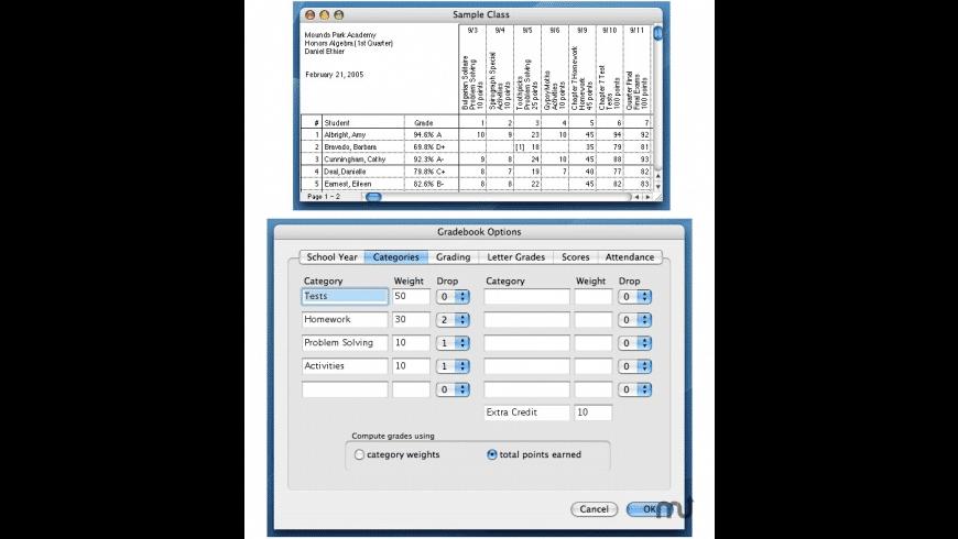 Gradekeeper for Mac - review, screenshots
