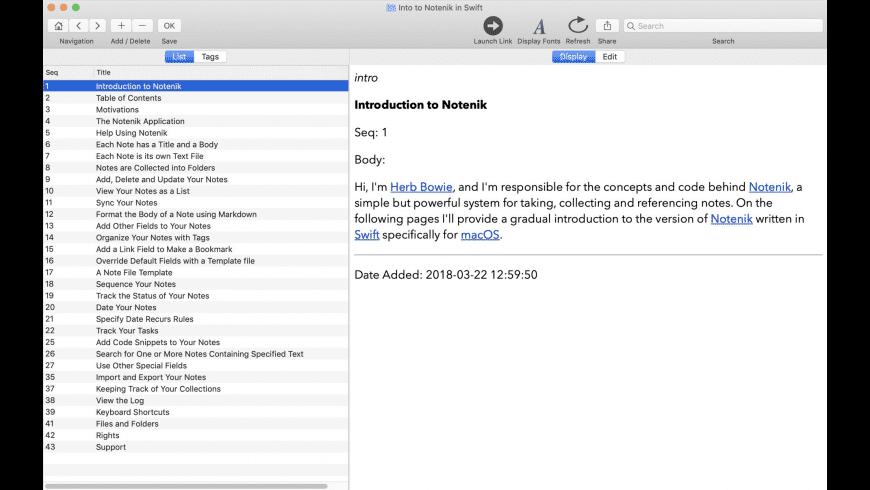 Notenik for Mac - review, screenshots