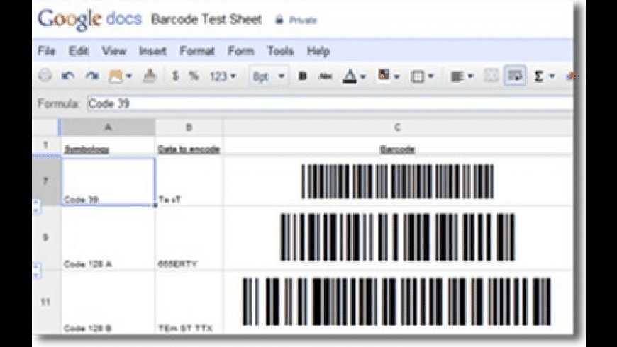 Google Docs Barcode Generator for Mac - review, screenshots