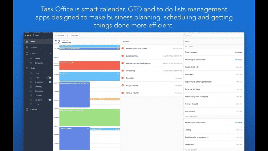Task Office for Mac - review, screenshots