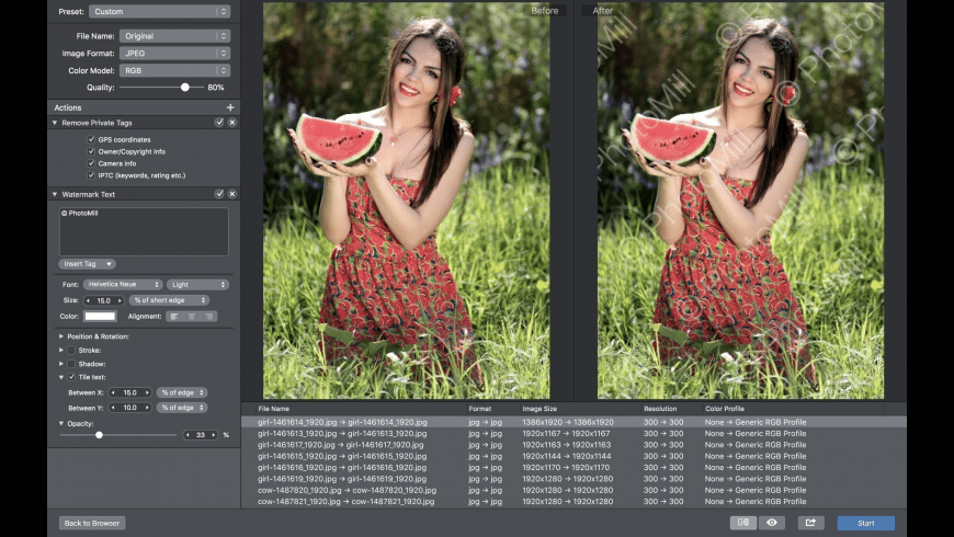 PhotoMill X for Mac - review, screenshots