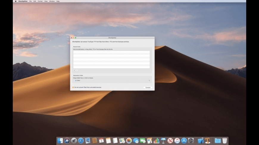 DfontSplitter for Mac - review, screenshots