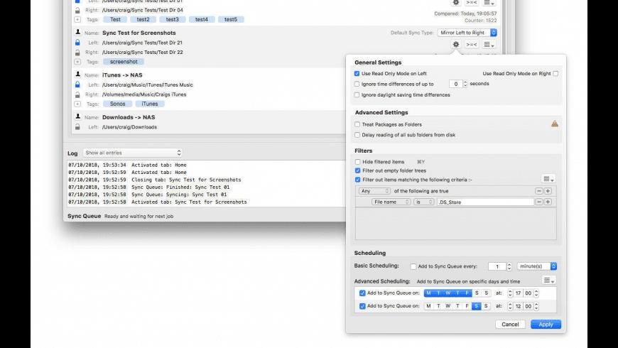 Folder Sync 2 for Mac - review, screenshots