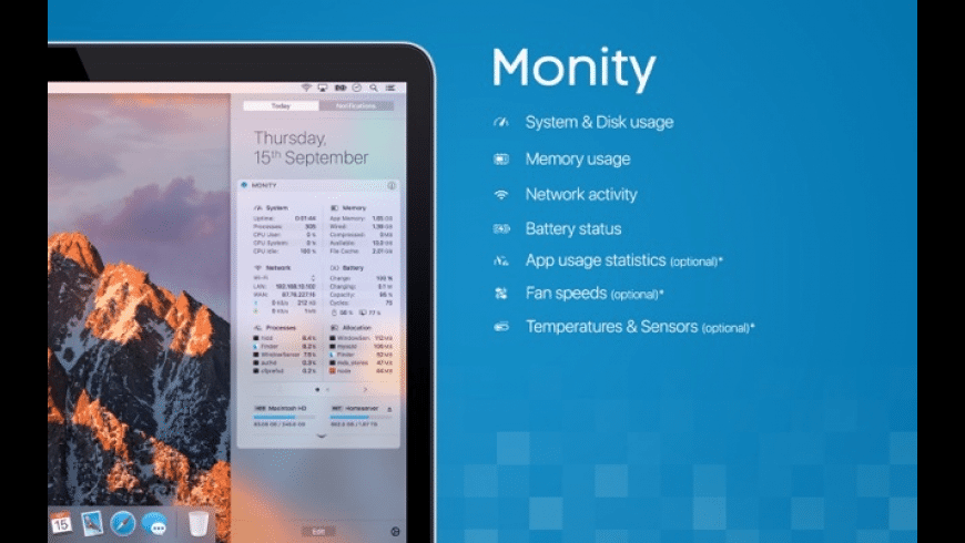 Monity for Mac - review, screenshots