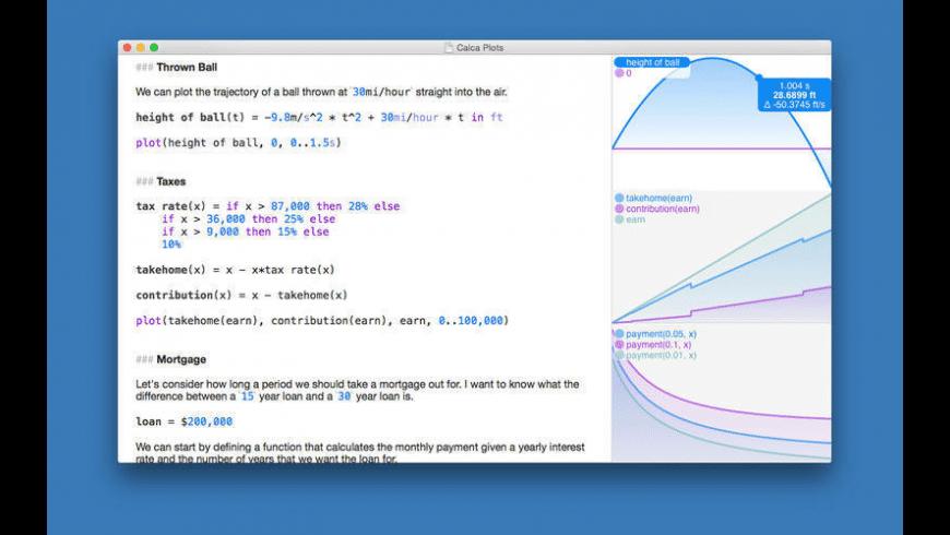 Calca for Mac - review, screenshots