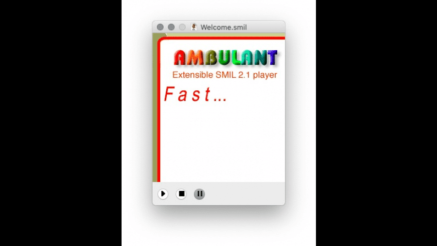 Ambulant Player for Mac - review, screenshots