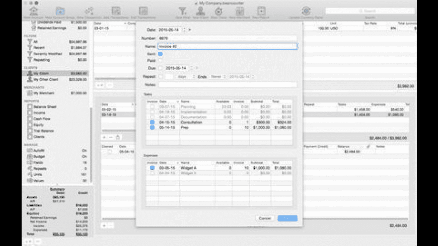 BeanCounter for Mac - review, screenshots