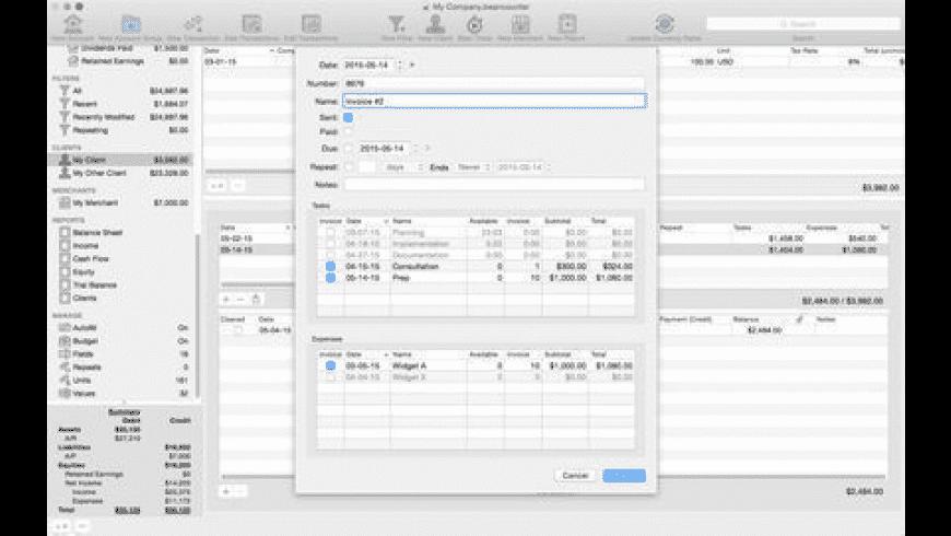 BeanCounter for Mac - review, screenshots