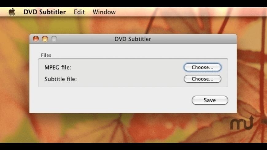 DVD Subtitler for Mac - review, screenshots