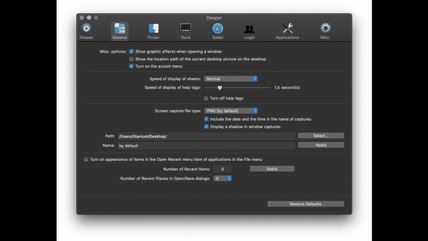Deeper for Mac - review, screenshots