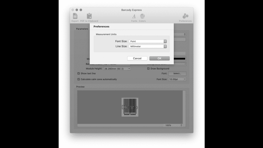 Barcody Express for Mac - review, screenshots