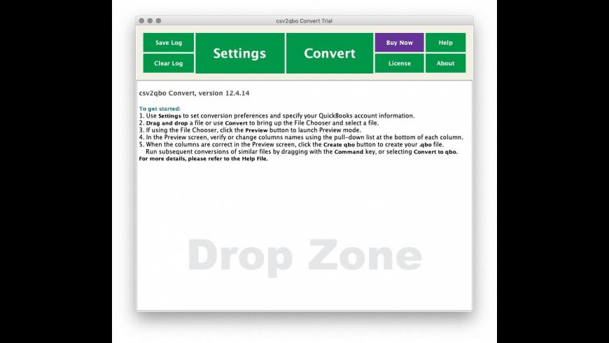 csv2qbo Convert for Mac - review, screenshots