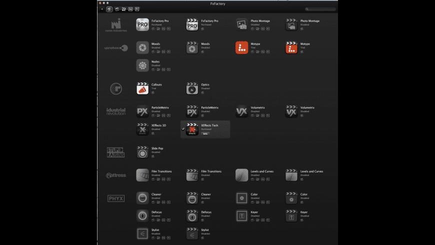 FxFactory for Mac - review, screenshots