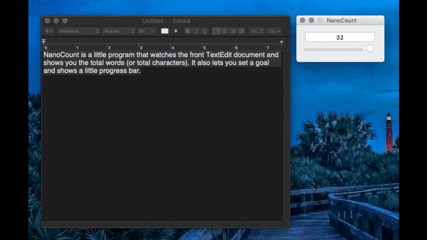 NanoCount for Mac - review, screenshots