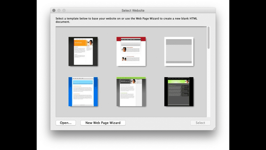 WebDesign for Mac - review, screenshots