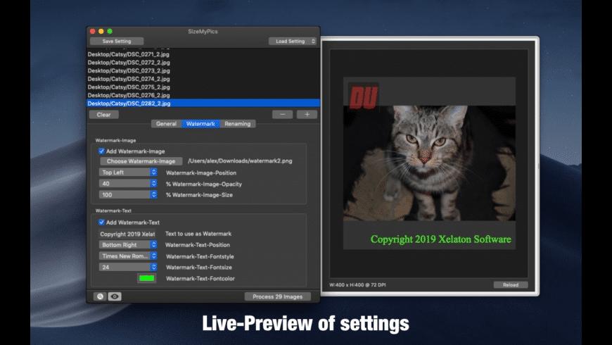 SizeMyPics for Mac - review, screenshots