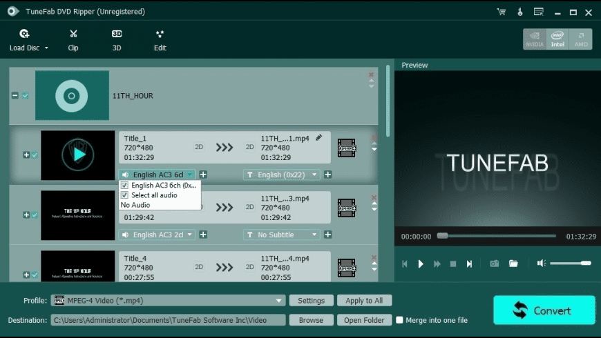 TuneFab DVD Ripper for Mac - review, screenshots