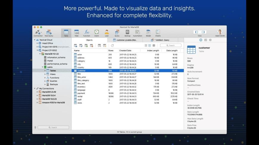 Navicat Essentials for MariaDB for Mac - review, screenshots