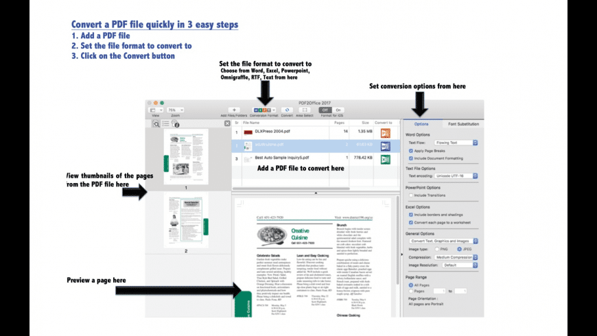 PDF2Office for Mac - review, screenshots