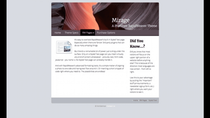 Mirage for Mac - review, screenshots