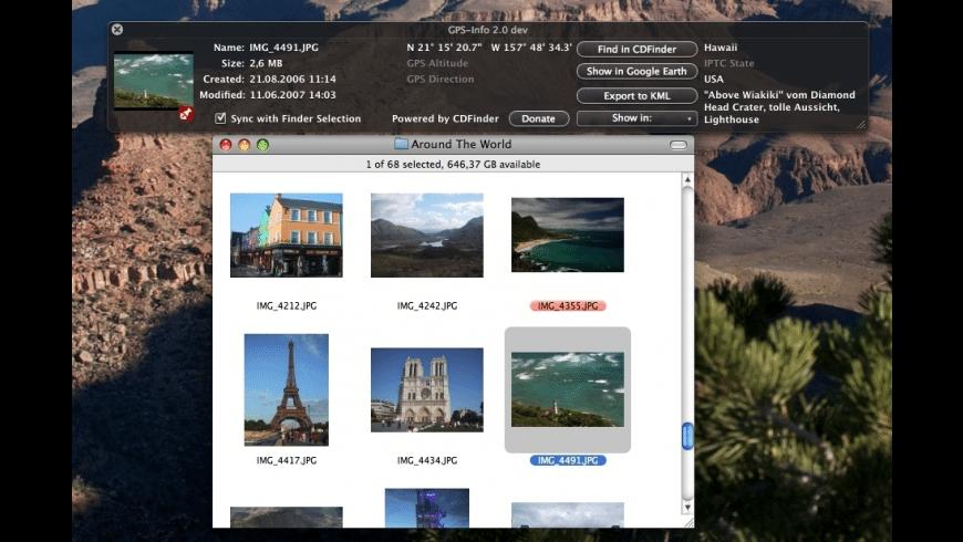 GPS-Info for Mac - review, screenshots
