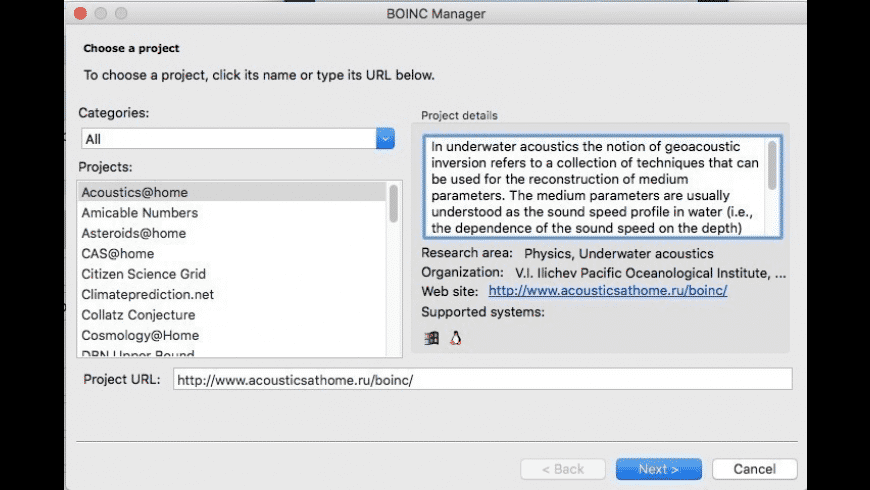 BOINC for Mac - review, screenshots