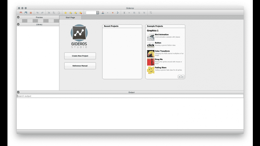 Gideros for Mac - review, screenshots