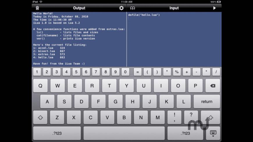 iLuaBox for Mac - review, screenshots
