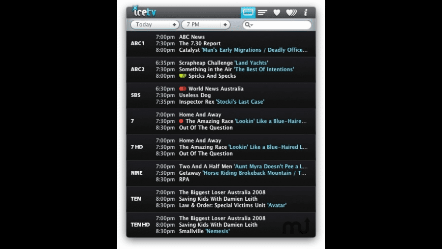 IceTV Remote for Mac - review, screenshots