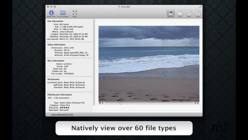 File Viewer for Mac - review, screenshots