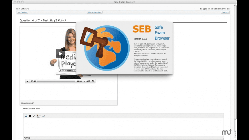 Safe Exam Browser for Mac - review, screenshots