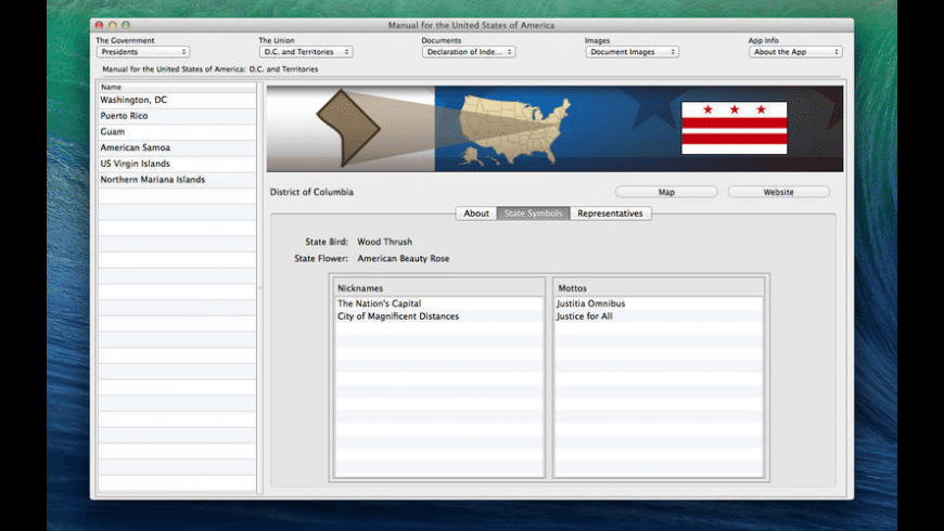 Manual for the United States of America for Mac - review, screenshots