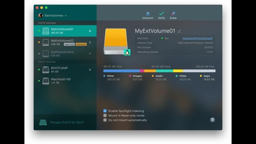 ExtFS for Mac - review, screenshots